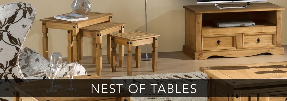 Edmondsons dining banner nest of tables