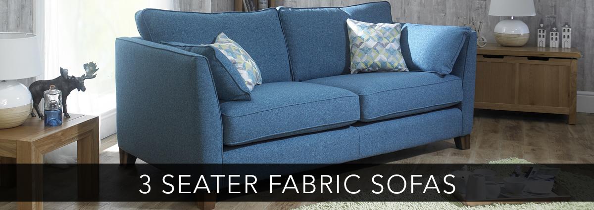 Edmondsons upholstery banner 3 seater fabric sofas