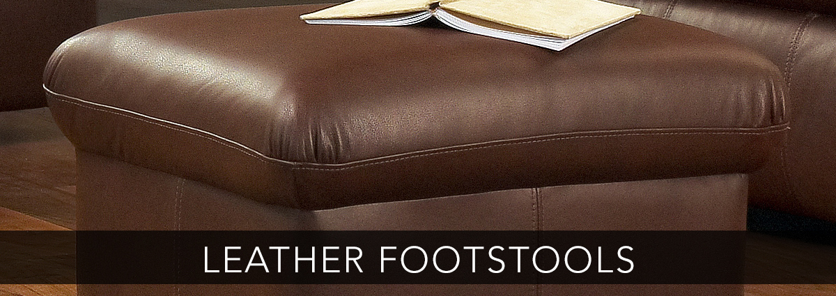 Edmondsons upholstery leather footstools