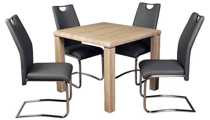 Dining Set Somoma with Claren Grey Chairs
