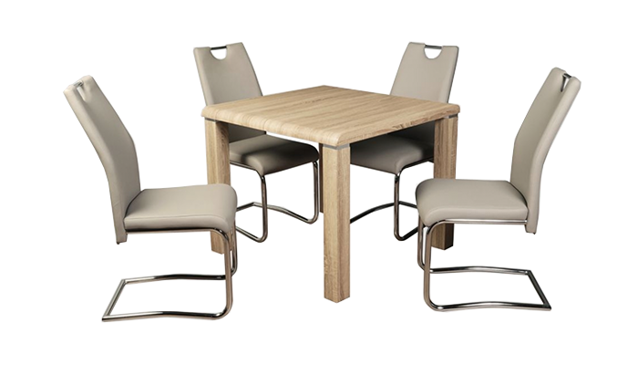 Dining Set Sonoma with Claren Khaki Chairs