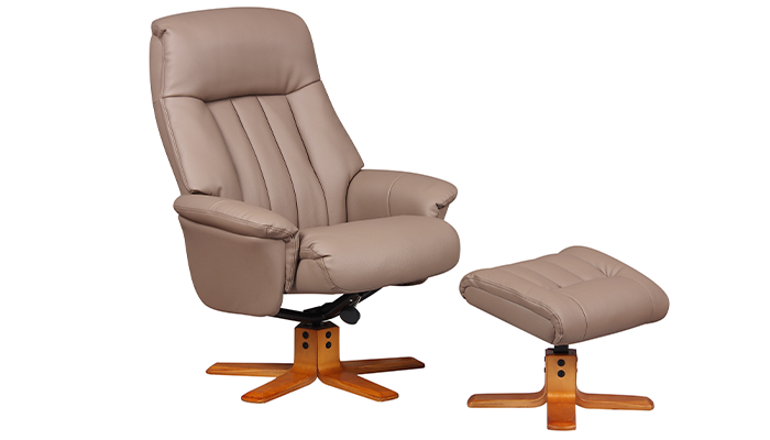 Riviera Manual Swivel Recliner- Earth
