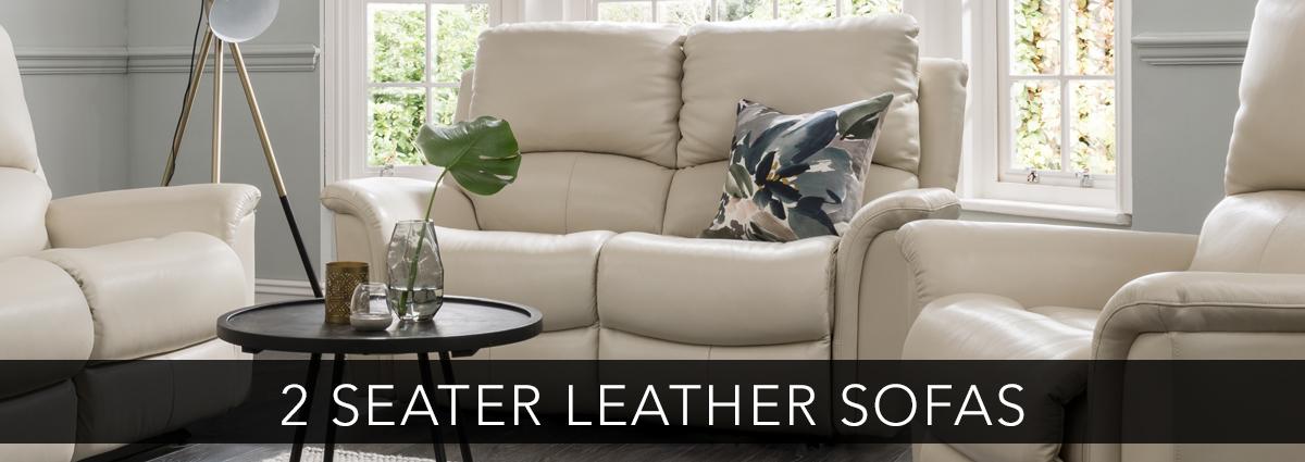 Edmondsons upholstery leather 2 seater sofas