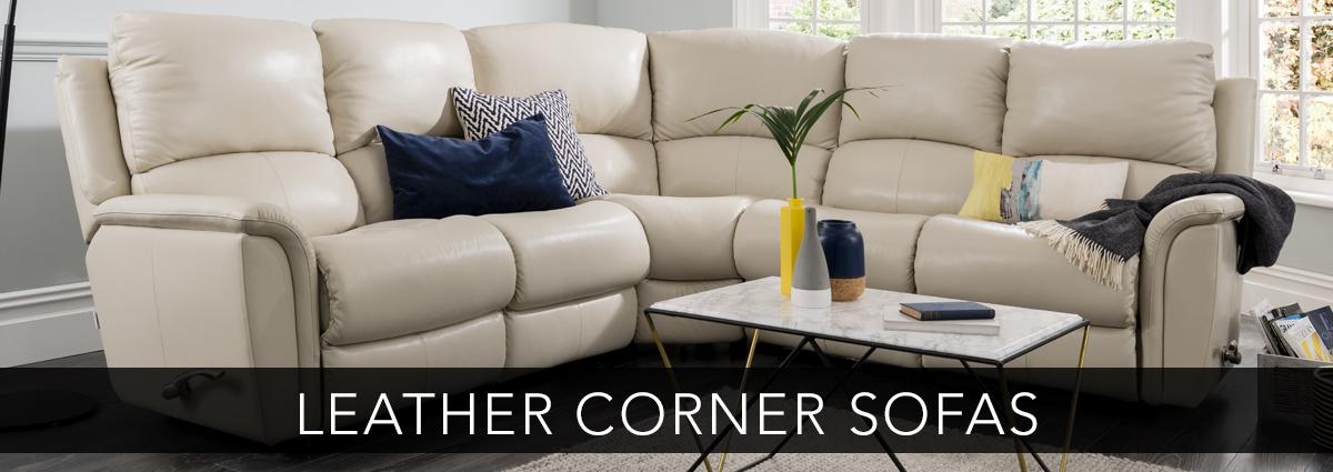 Edmondsons upholstery leather corner sofas