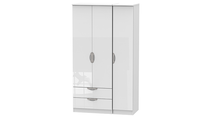 Tall Triple Package 2 Drawer Robe