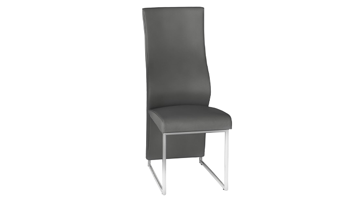 Stefano Grey Faux Leather Dining Chair (Pair)